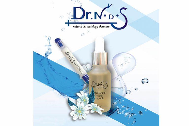 Mỹ phẩm Dr NDS và thiết kế sang trọng của Hydrogel Lifting Mask và Brightening Booster Ampoule